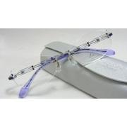 XL-1046【ブルーbl】52mm【HOYA】 遠近両用メガネセット【超硬質】ホヤ1.60ハイビジョンVPコート【標準レンズ非球面 】加算0円